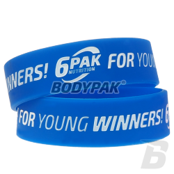 6PAK Nutrition Opaska na rękę FOR YOUNG WINNERS BLUE (20mm) - 1 szt.